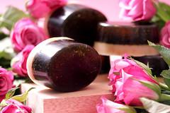 Rose Soap (RoYaLHigHnEsS1) Tags: product photography studio handmade soap still life rose red basil organic fresh