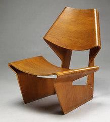 Moulded plywood chair, designed by Grete Jalk, 1963 (Eye magazine) Tags: chair plywood