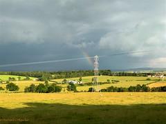 rain ahead (Rourkeor) Tags: coylton scotland unitedkingdom gb clouds sunshine shadows pylons rainbow sheep fields farms iphone7 ayrshire landscape