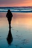 Walking with my girl (Nicolas Devaud) Tags: sea seaside bayside bay beach shore colors colored colorful couleur sunset sun light mer ici la here there world earth landscape walk walking nature breath pink clouds nikon d90 awesome silhouete reflect reflet reflexion girl poeple watching