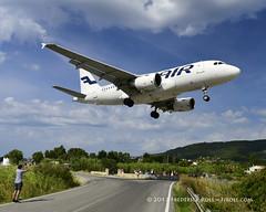 Finnair A319 ~ OH-LVC (© Freddie) Tags: skiathos thessaly sporades aegean greece jsi lgsk ©freddie fjroll finnair airbus a319 ohlvc oneworldalliance