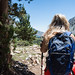 Theresa, hiking in Lundy Canyon