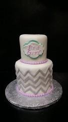 Baby Shower Cake (dragosisters) Tags: girl grey chevron teal purple cake babyshower