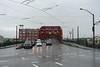 Broadway Bridge (Blinking Charlie) Tags: broadwaybridge portland oregon usa sonydscrx100m3 wetpavement rain intersection blinkingcharlie trolleywire albersmill 2015 nwbroadway nwlovejoystreet streettrackage
