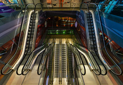 Escalators in the Markthal (Michael Echteld) Tags: architecture escalators fullframe ilce7m2 markthal michaelechteld mirrorless modernarchitecture rotterdam sigma1224 sony sonya7ii sonyalpha