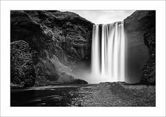 Particle XXIV (Frank Hoogeboom) Tags: ijsland skogafoss iceland scandinavia landscape waterfall fall water black white blackandwhite monochrome longexposure fineart scenic dramatic landmark