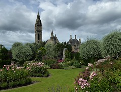 Eaton Hall. (jenichesney57) Tags: eatonhall chester garden house flowers lawns clouds hedges trees panasoniclumixtz60 church tower clock roses homeofdukeofwestminster