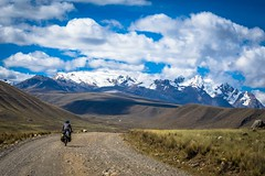 As we leave the comforts of Huaraz we enter the grand mountains again and gravel roads.