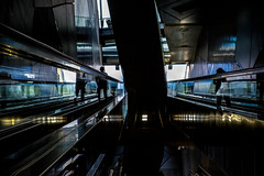 Metropolis-DSC_9026 (thomschphotography3) Tags: cologne germany subway silhouette colours stairways metropolis urban architecture streetphotography
