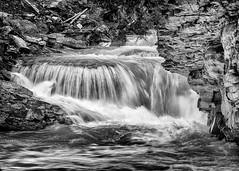 Johnston Canyon (beachwalker2008) Tags: banff alberta canada johnstoncanyon waterfall water rapid blackandwhite bw