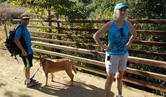 Stopping before Turning Around (EmperorNorton47) Tags: blackstarcanyon silverado california photo digital summer dog hikers bridge littledoglaughedstories
