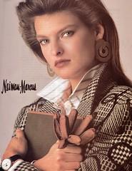 Nieman-Marcus 1987 (barbiescanner) Tags: vintage retro fashion vintagefashion vintageads 80s 1980s 80sfashion 1980sfashion niemanmarcus lindaevangelista
