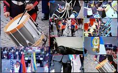 Détails de 14 juillet (brigeham34) Tags: télévision défilédu14juillet tambours plumet casoar drapeaux casquedepompier épée écharpe médailles képis épaulettes fourragères