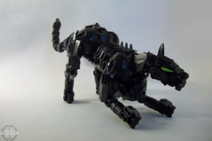Obsidian Panther (Alieraah) Tags: lego bionicle moc cat tiger panther obsidian stone gem rock feline afol toy