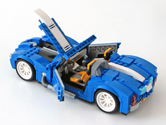 31070 Retro Roadster open (NKubate) Tags: lego creaor alternate alternative 31070 shelby cobra corvette roadster retro nkubate nathanael kuipers
