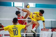 ASEAN School Games- Sepak Takraw (REVIT PHOTO'S) Tags: sepak takraw sepakraga sport aseanschoolgames asean footvolleyball stunt philipines