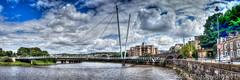Lancster Millenium Bridge HDR (Ian Lonsdale) Tags: lancaster rive lune bridge footbridge millennium sony rx100 m2 hdr lancashire panoramic