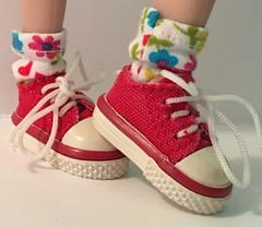 Primarily I love Little Flowers...Short Socks For Blythe...