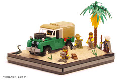 Land Rover Series 1 (Pixel Fox) Tags: land rover offroad 4x4 lego diorama