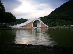 Moon Bridge (Kpdcphotography) Tags: dahu park taiwan taipei brigde landscape mountains huaweip9plus phonephotography