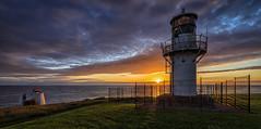 Kinnaird Head (avaird44) Tags: fraserburgh lighthouse sunrise fence grass foghorn sea seascape light sun sky aberdeenshire scotland