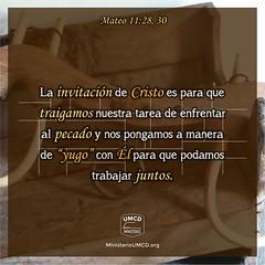"""No es para que lo lleve solo  Mateo 11:28-30 """"Venid a mí todos los que estáis trabajados y cargados, y yo os haré descansar. Llevad mi yugo sobre vosotros, y aprended de mí, que soy manso y humilde de corazón; y hallaréis descanso para vuestras almas; por (unmomento.condios) Tags: libertador pecado muerte poder abundancia dios invitación yugo cielo jesús esclavitud carga vidacristiana reflexionescristianas restauración paz poderdedios salvación libertad infierno ministerioumcd devocionales unmomentocondios vida cristo castigo"""