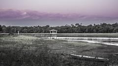 Pier on the dusk (Rapha777) Tags: céu cor diferente landscape abandoned boat pier cais braçoderio purple