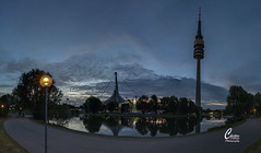 _MGL8041Panorama-2 (wombatchrille) Tags: blauestunde münchen olympiapark olympiaturm spiegelungen panorama