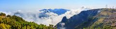 View from Bica da Cana No. 2 - Madeira, Portugal (dejott1708) Tags: madeira portugal landscape panorama bica da cana mountains clouds wind turbines