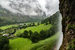 Lauterbrunnen beyond Staubbach Falls (jordancook3) Tags: lauterbrunnen
