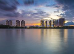 Sunset 1 Syawal (jenvendes) Tags: indonesia asia jakarta building architecture art landscape landmark destination icon popular sunset moment colorful summer clouds sky places city central muara baru port dusk