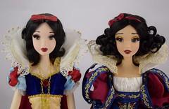 Original Limited Edition Snow White Doll Welcomes D23 Snow White Doll - Portrait Front View (drj1828) Tags: d23 2017 expo purchases merchandise limitededition artofsnowwhite snowwhiteandthesevendwarfs snowwhite princess deboxed le1023 2009 17inch sidebyside standing comparison