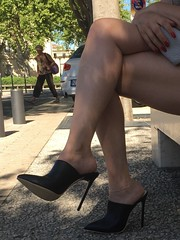 Shopping day in Marseille (Rosina's Heels) Tags: high heel stiletto heels mules