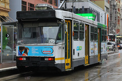 295, Flinders Street, Melbourne, September 15th 2016 (Southsea_Matt) Tags: 295 aclass flindersstreet comeng ptv yarratrams melbourne victoria australia september 2016 spring canon 60d 1855mm publictransport passengertransport vehicle tram metro rail lightrail