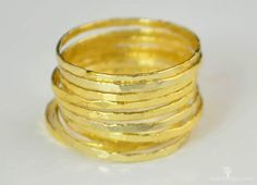 **Free Domestic Ship (alaridesign) Tags: free domestic shipping for all orders over 50 use coupon code shipfree50 golden silver super thin stacking rings these 12 each choose number yo alari