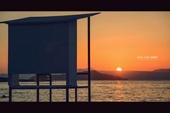 Another magic sunset in this magic city ! Love Chania ♥ (Imaginarium 2.1) Tags: sunset goldenhour lifeguardtower shade sun colors golden orange sea sky chania crete greece bvs bazilvansinner welovegreece lovechania