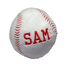Baseball Pillow (initial_impressions) Tags: embroidered personalized baseballpillow