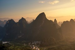 When The Sun Comes Up (Anna Kwa) Tags: karstmountains sunrise xingpingancienttown xiangonghill 相公山 yangshuo liriver guilin guangxi china annakwa nikon d750 afsnikkor24120mmf4gedvr my sun always feel see love seeing heart soul throughmylens destiny fate hope travel world rudimental suncomesup lost