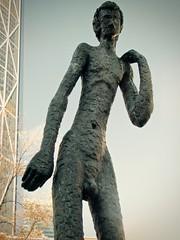 20-foot statues, The Family of Man, Calgary (JasChamPhoto) Tags: canada alberta calgary thefamilyofman statues artinstallation publicart albertaeducationcentre nude 20foottall 1969 armengol bronze