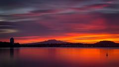 Rangitoto Sunrise (www.cornelia-schulz-photography.com) Tags: rangitoto sunrise colours stunning colourful silhouettes devonport reflections sky auckland nz