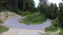 The Full-Gas Turn (29in.CH) Tags: summer road bike ride 26072017 yuneec breeze drone hairpin turn climb