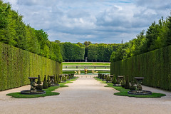 The Gardens of Versailles (amd274) Tags: shrubs france bushes trees gardens paris vivid beautiful water fuji xt1 clouds fountain versailles fujifilm dramatic