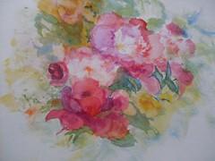 Almost August! (SandraNestle) Tags: sandranestle art watercolor sketchbookart closeup pleinair fleurs aquarelle