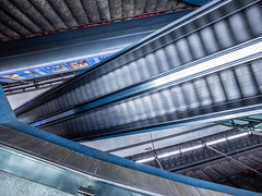 That moment (katrin glaesmann) Tags: münchen munich tube station ubahn metro mvg stquirinplatz workshop u1 moving train escalator balancingtripod 1997 paulkramerundmanfredrossiwaljespersen ulrichelsner hermannöttlmünchen