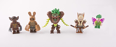 The Thorn King and his retinue (Hammerstein NWC) Tags: lego tlg tlc wood elf beastman faerie purist mage wizard hatchet