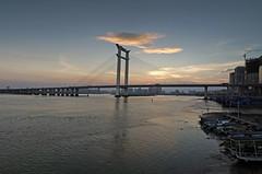 Jinjiang bridge sunset.(_7264873-6_2) (Minaol) Tags: china fujian quanzhou jinjiang bridge sunset 泉州 刺桐古城 晋江大桥 霞光 晚霞