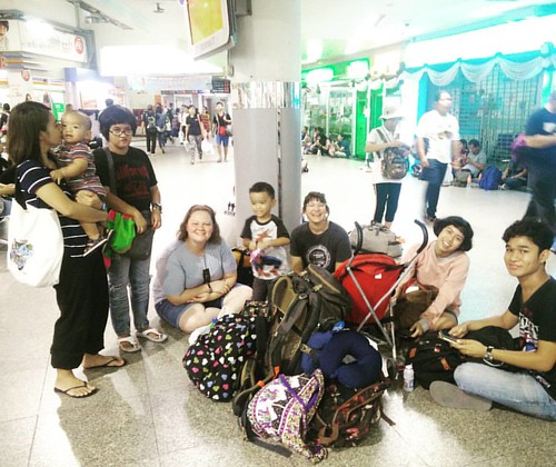 Just chillin at the bus terminal.  Please pray for a safe trip. We're heading to Chiang Mai for the holiday. Looking forward to meeting the CMF Chiang Mai. #grapevinethailand #globalscopethailand #cmfreach2017