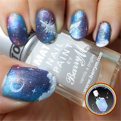 Feather In The Sky (ithinitybeauty) Tags: nails nailart nails2inspire artist nailartwow nailartist nailpolish manicure notd nailsofthe day paint painting acrylic feather night sky stars clouds nail blogger bblogger beauty fashion creation inspire photograpghy