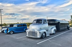 Big Boy Toys Parking Lot (Brad Harding Photography) Tags: silver caboverengine truck utility antique chrome chevrolet chevy 48 1948 coe
