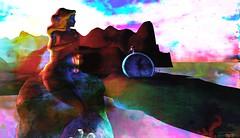 Singing blues / Artist : Susan Juel Resistance (Bamboo Barnes - Artist.Com) Tags: secondlife fantasy mermaid clock water reflection lea texture vivid blue black red pink green yellow light shadow bamboobarnes surreal photo painting digitalart virtualart lea9